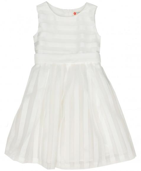 Белое нарядное платье Button Blue
