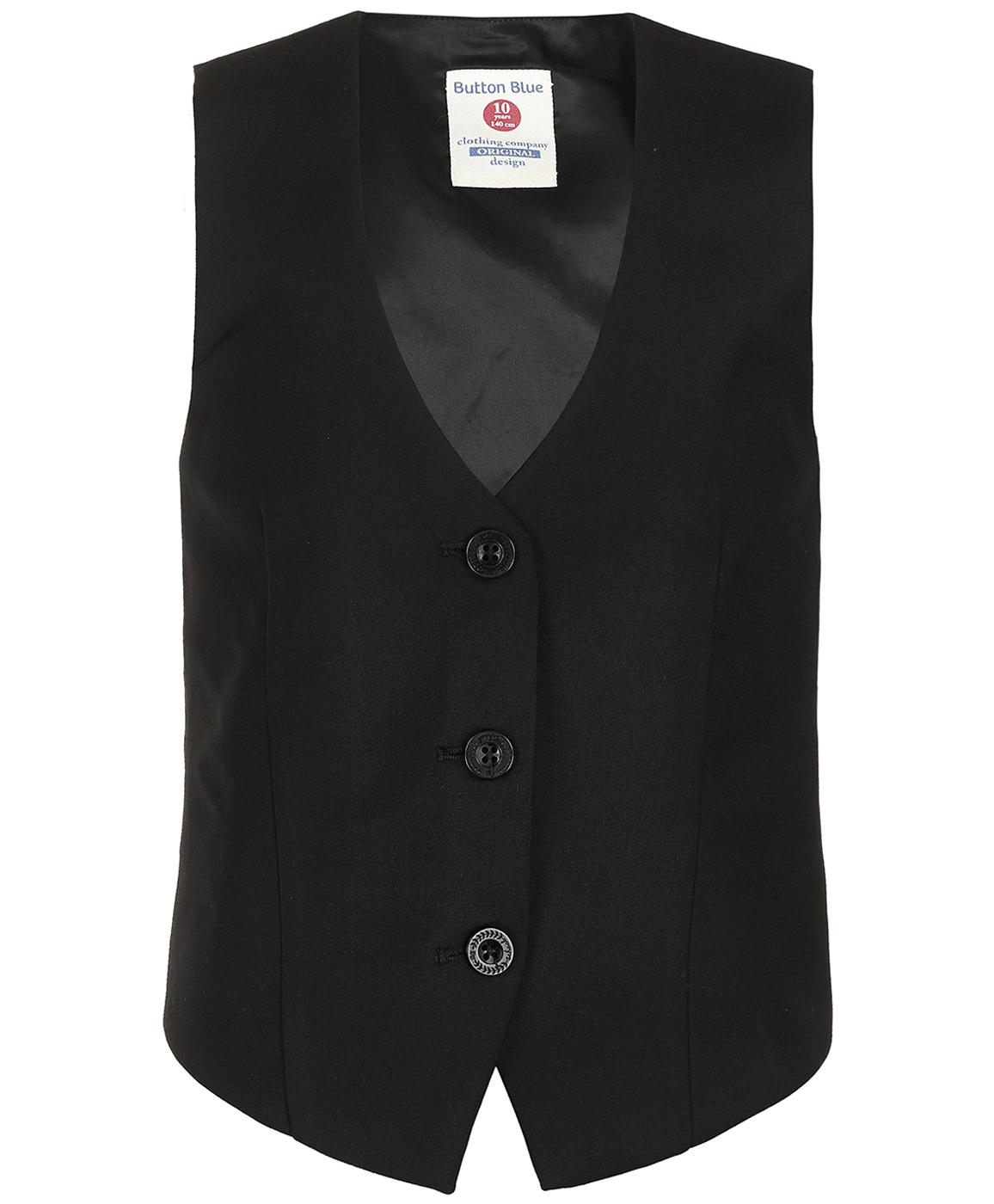 Купить 219BBGS47020800, Черный классический жилет Button Blue, черный, 122, Женский, ОСЕНЬ/ЗИМА 2019-2020 (shop: GulliverMarket Gulliver Market)