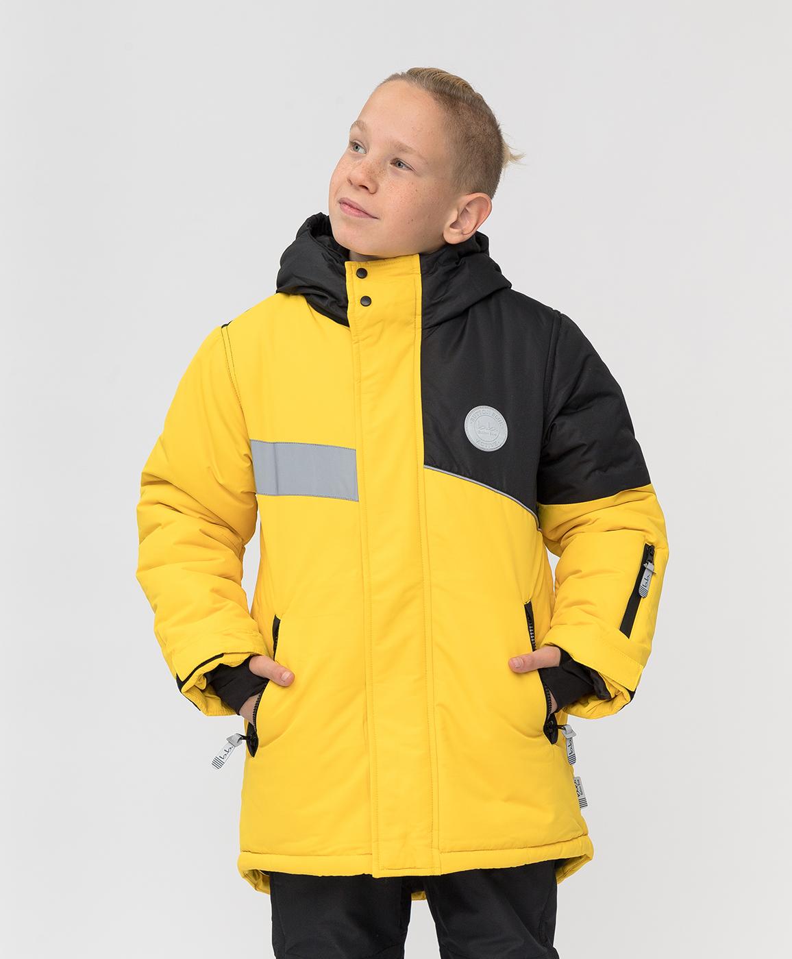 Купить 220BBBA45012700, Зимнее пальто Active Button Blue, желтый, 140, Мембрана, Мужской, Зима, ОСЕНЬ/ЗИМА 2020-2021 (shop: GulliverMarket Gulliver Market)