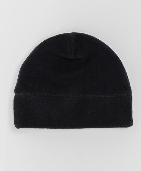 Черная флисовая шапка Button Blue