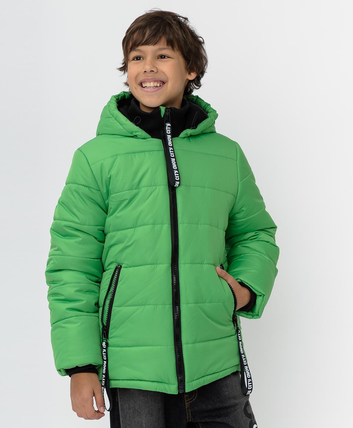 Купить 220BBBJC41024800, Зеленая зимняя куртка Button Blue, зеленый, 158, Полиэстер, Мужской, Зима, ОСЕНЬ/ЗИМА 2020-2021 (shop: GulliverMarket Gulliver Market)