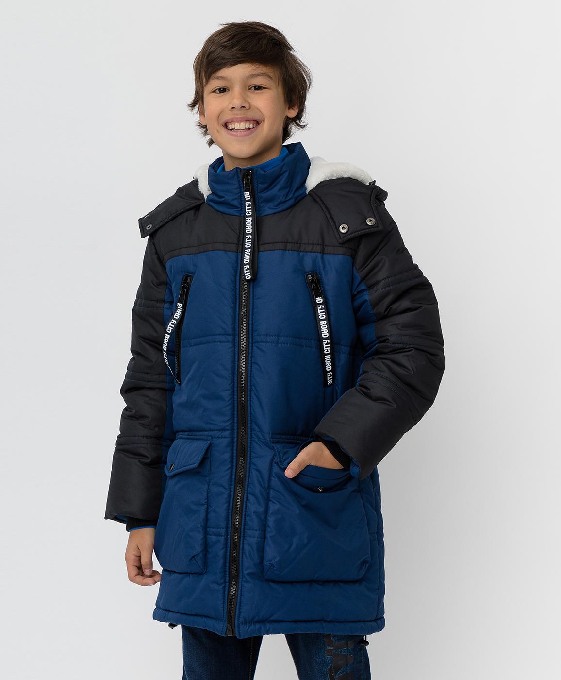 Купить 220BBBJC45021000, Темно-синее зимнее пальто Button Blue, синий, 140, Полиэстер, Мужской, Зима, ОСЕНЬ/ЗИМА 2020-2021 (shop: GulliverMarket Gulliver Market)