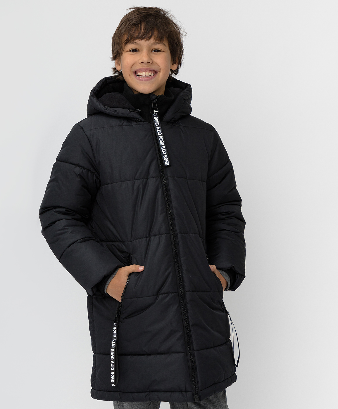 Купить 220BBBJC45030800, Черное зимнее пальто Button Blue, черный, 140, Полиэстер, Мужской, Зима, ОСЕНЬ/ЗИМА 2020-2021 (shop: GulliverMarket Gulliver Market)
