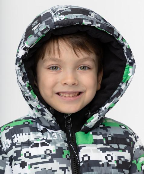 Зимняя куртка с принтом Button Blue