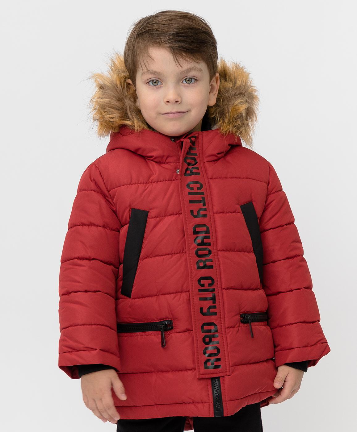 Купить 220BBBMC45013500, Красное зимнее пальто Button Blue, красный, 116, Полиэстер, Мужской, Зима, ОСЕНЬ/ЗИМА 2020-2021 (shop: GulliverMarket Gulliver Market)