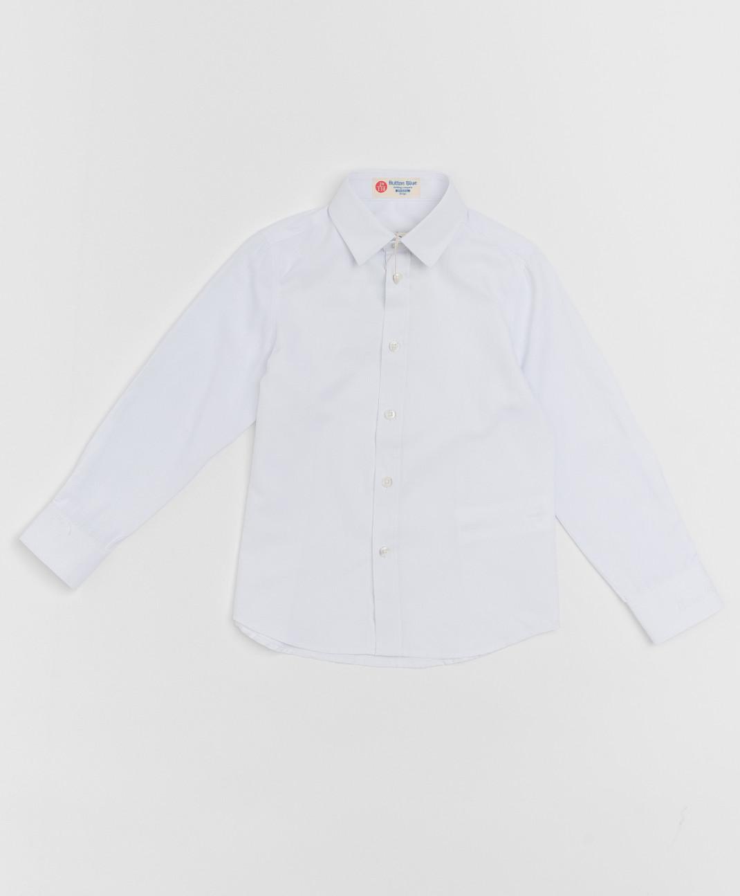 Button Blue Белая фактурная рубашка Button Blue
