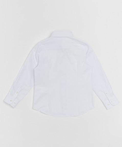 Белая фактурная рубашка Button Blue
