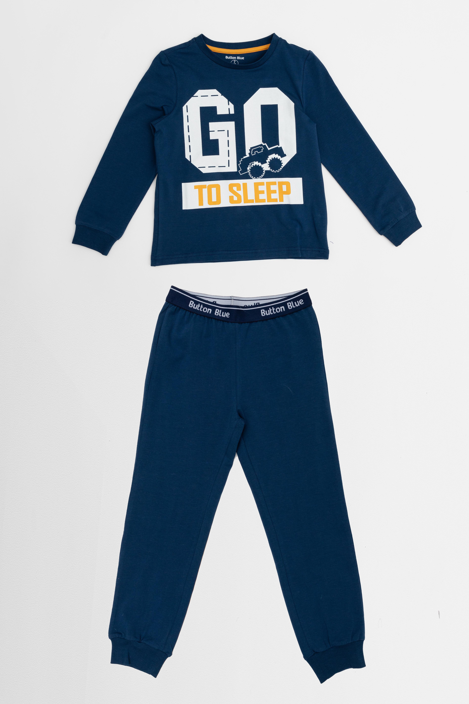 Купить 220BBBMU97011000, Пижама для мальчика Button Blue, синий, 116-122, Хлопок, Мужской, ОСЕНЬ/ЗИМА 2020-2021 (shop: GulliverMarket Gulliver Market)