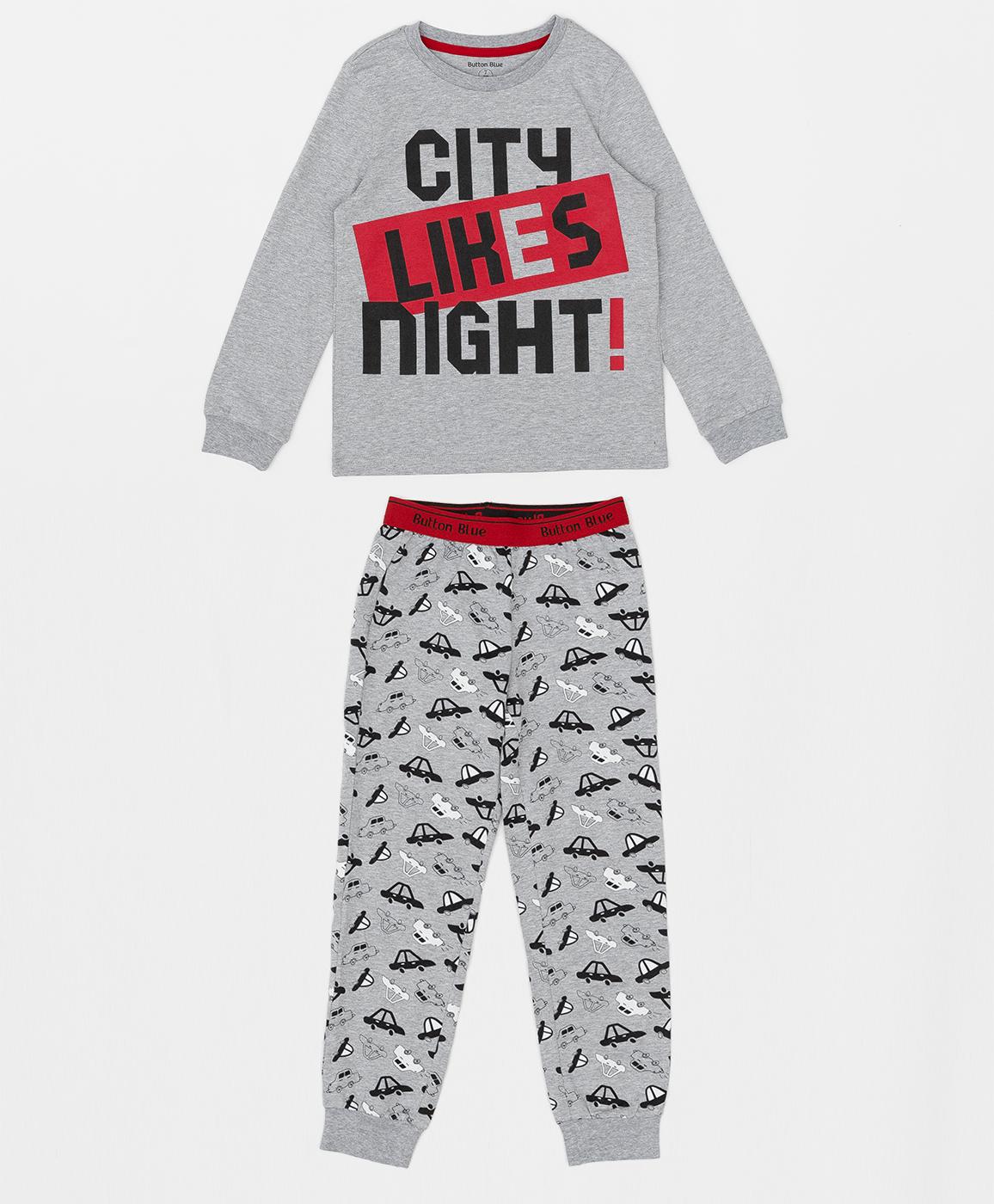 Купить 220BBBMU97011913, Пижама для мальчика Button Blue, серый, 116-122, Хлопок, Мужской, ОСЕНЬ/ЗИМА 2020-2021 (shop: GulliverMarket Gulliver Market)