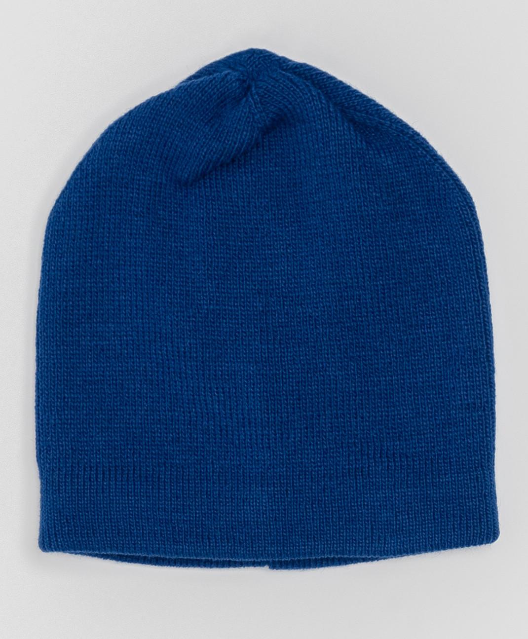 Button Blue Синяя шапка с завязками Button Blue