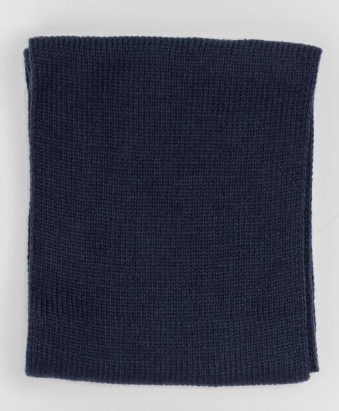 Темно-синий вязаный воротник Button Blue