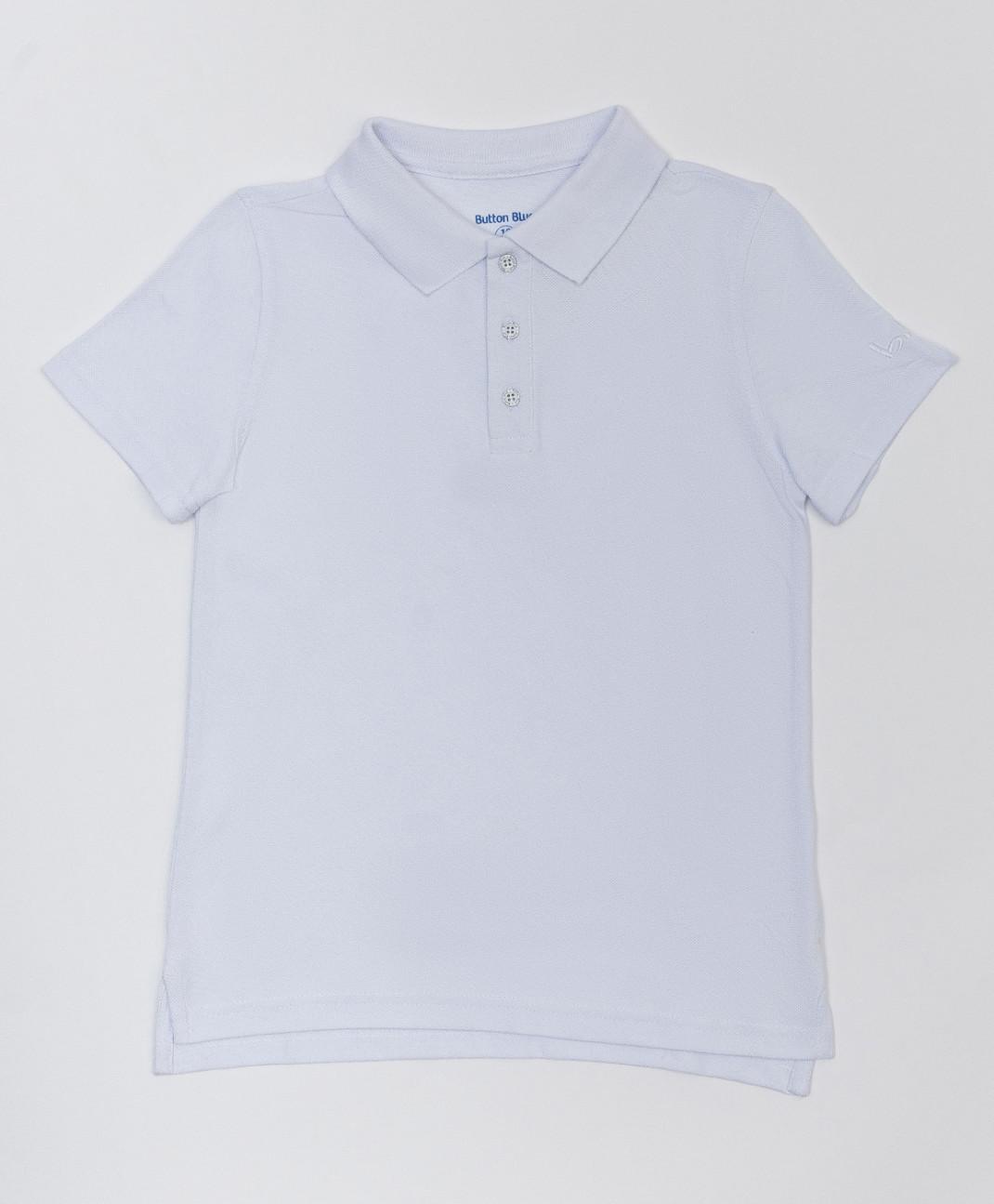 Button Blue Белое поло с коротким рукавом Button Blue
