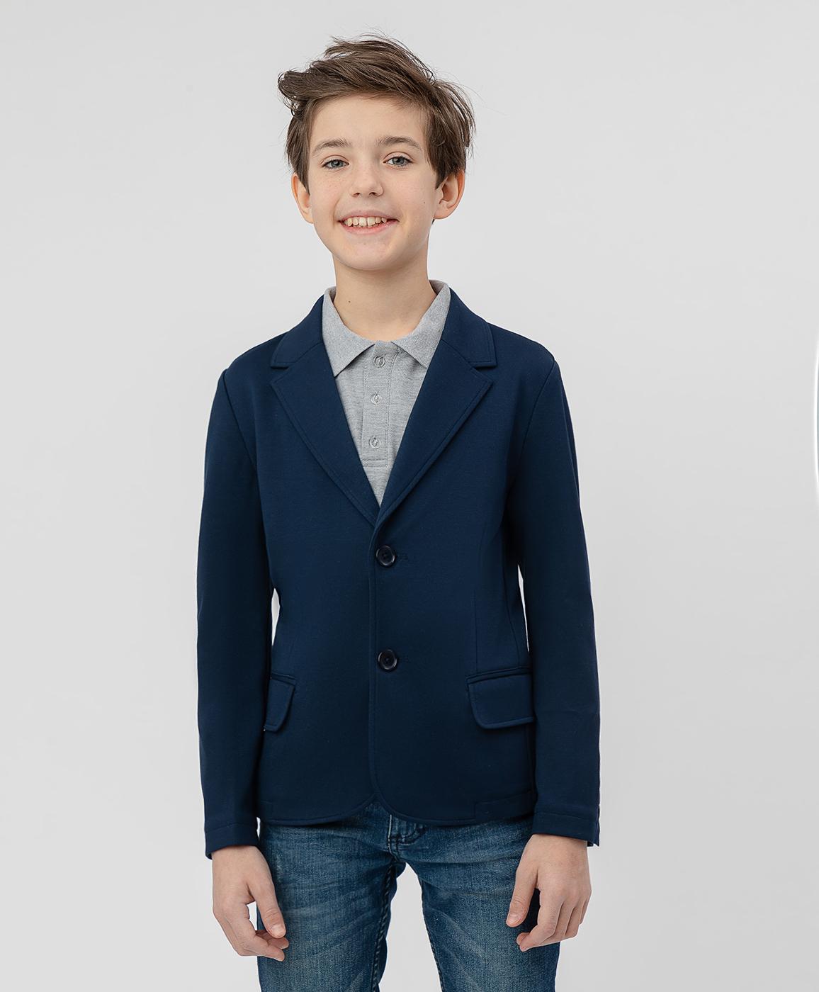 Купить 220BBBS19011000, Синий трикотажный пиджак Button Blue, синий, 152, Джерси, Мужской, Демисезон, ШКОЛЬНАЯ ФОРМА 2020-2021 (shop: GulliverMarket Gulliver Market)