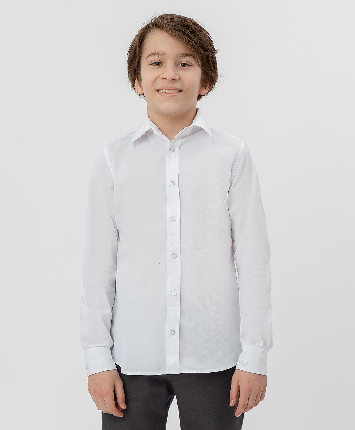 Купить 220BBBS23020200, Белая рубашка Button Blue, белый, 122, Хлопок, Мужской, Демисезон, ШКОЛЬНАЯ ФОРМА 2020-2021 (shop: GulliverMarket Gulliver Market)