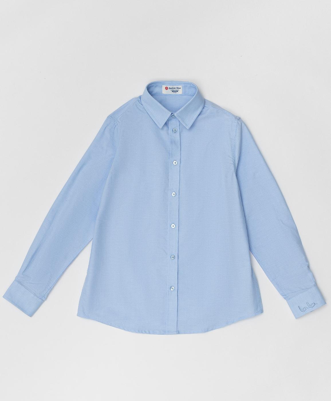 Купить 220BBBS23021800, Голубая рубашка Button Blue, голубой, 140, Хлопок, Мужской, Демисезон, ШКОЛЬНАЯ ФОРМА 2020-2021 (shop: GulliverMarket Gulliver Market)