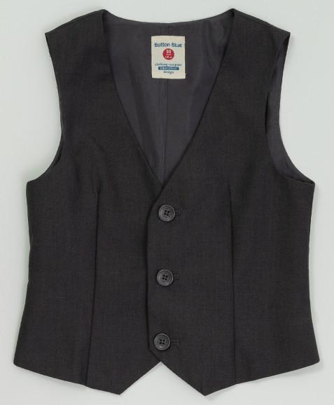 Серый классический жилет Button Blue