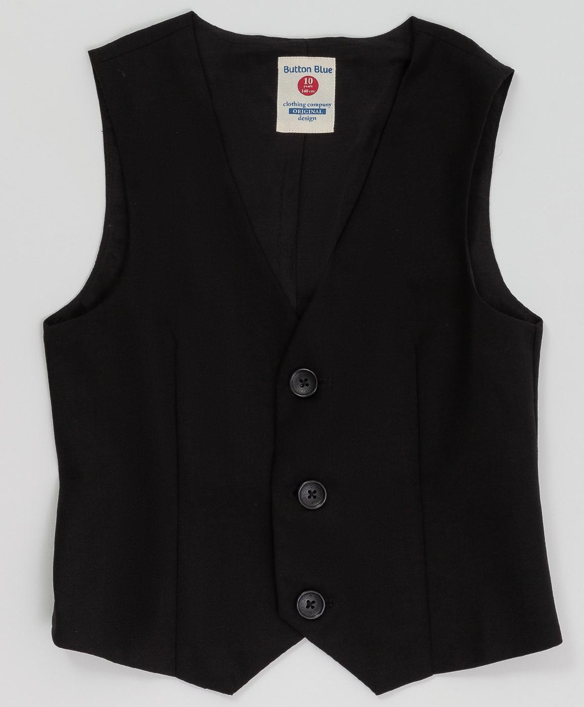 Купить 220BBBS47010800, Черный классический жилет Button Blue, черный, 140, Текстиль, Мужской, Демисезон, ШКОЛЬНАЯ ФОРМА 2020-2021 (shop: GulliverMarket Gulliver Market)