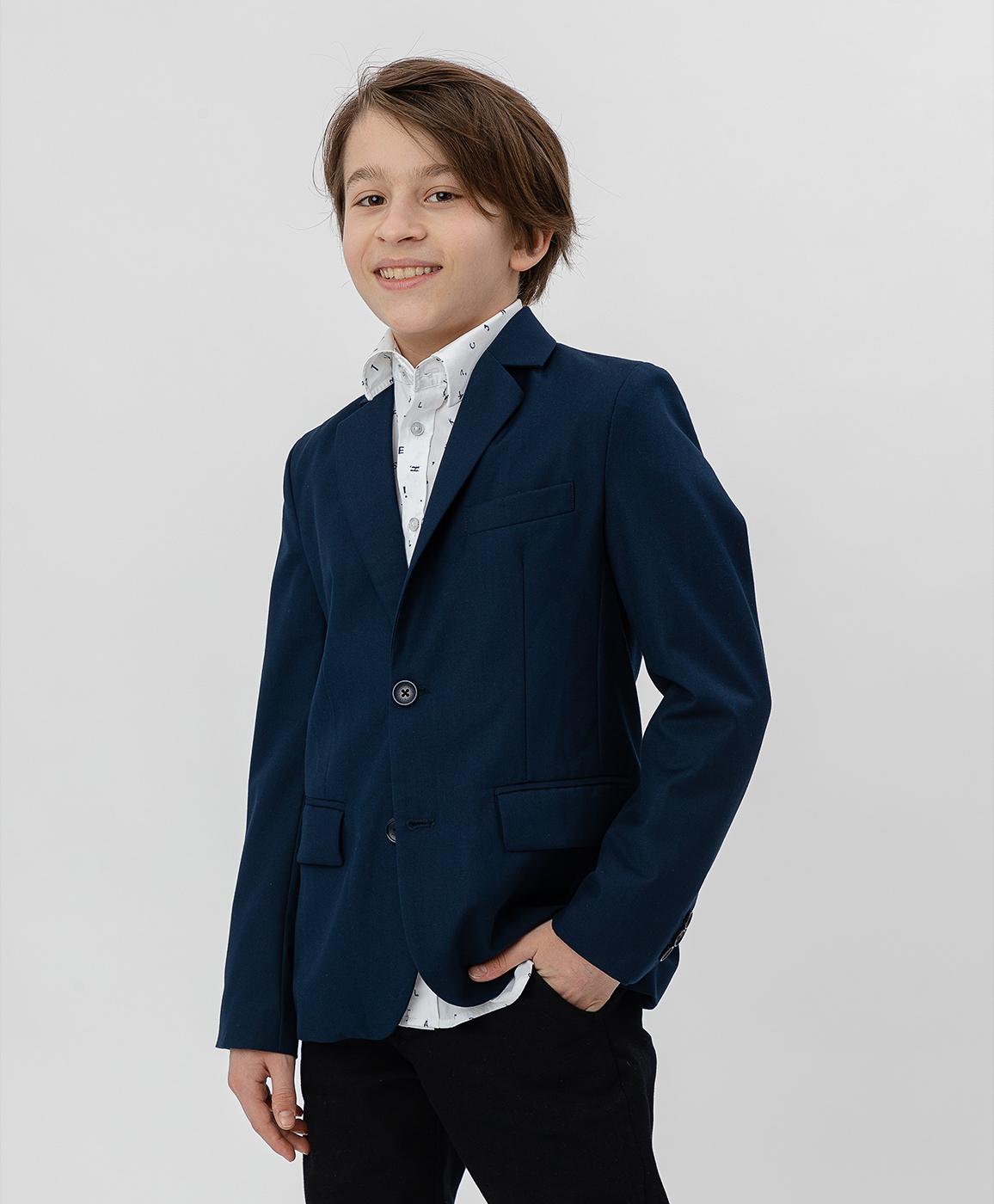Купить 220BBBS48011000, Синий пиджак Button Blue, синий, 152, Текстиль, Мужской, Демисезон, ШКОЛЬНАЯ ФОРМА 2020-2021 (shop: GulliverMarket Gulliver Market)