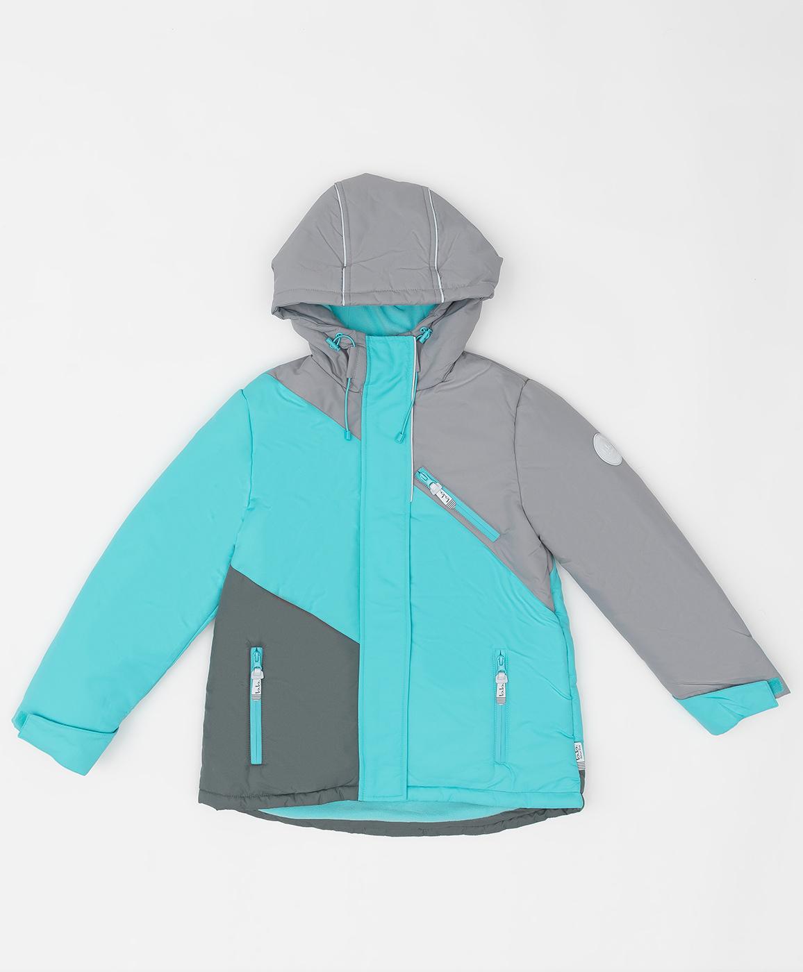 220BBGA41021800, Демисезонная куртка Active Button Blue, голубой, 128, Мембрана, Женский, ОСЕНЬ/ЗИМА 2020-2021  - купить со скидкой