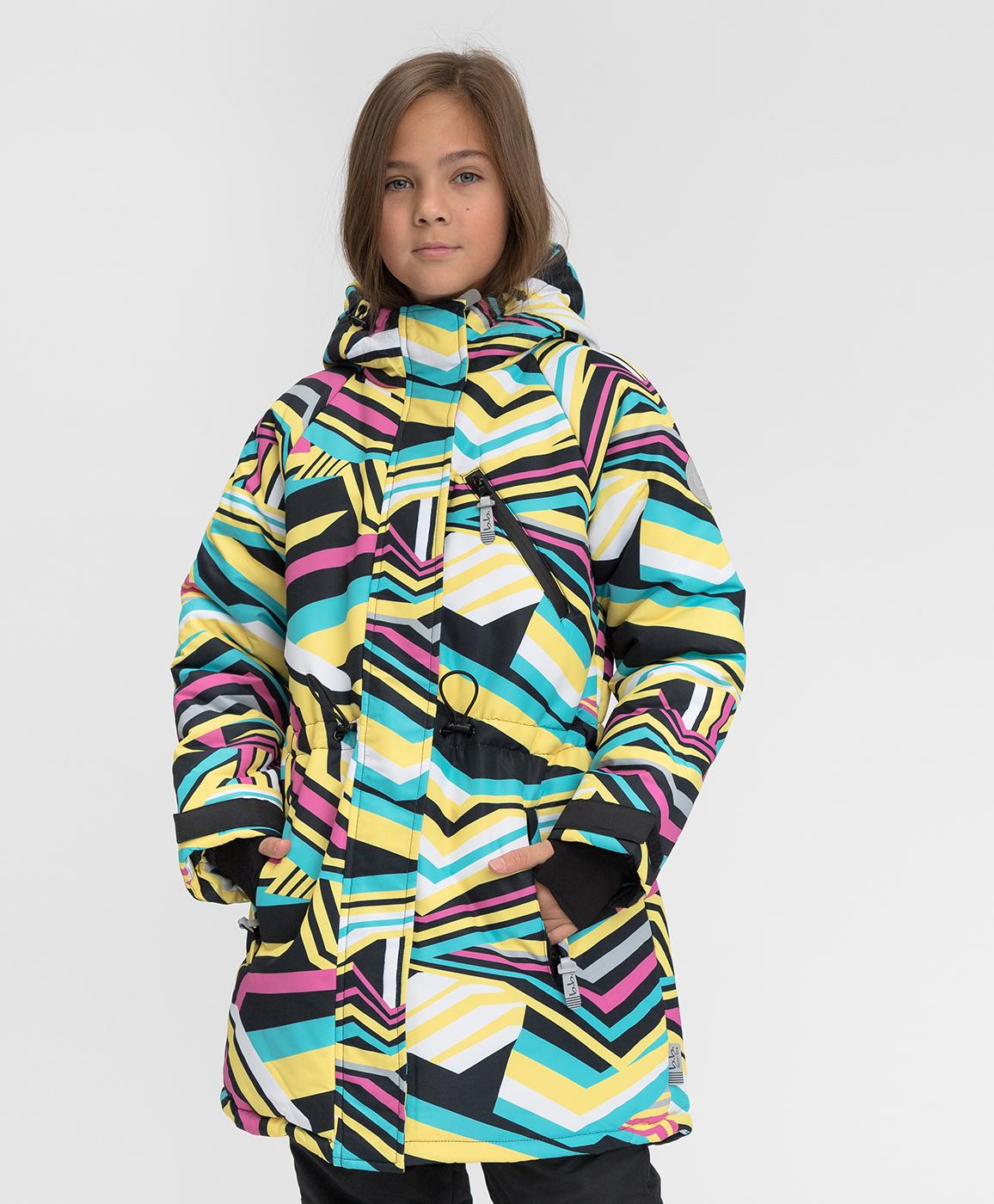 Купить 220BBGA45020010, Зимнее пальто Active Button Blue, мультицвет, 140, Мембрана, Женский, Зима, ОСЕНЬ/ЗИМА 2020-2021 (shop: GulliverMarket Gulliver Market)