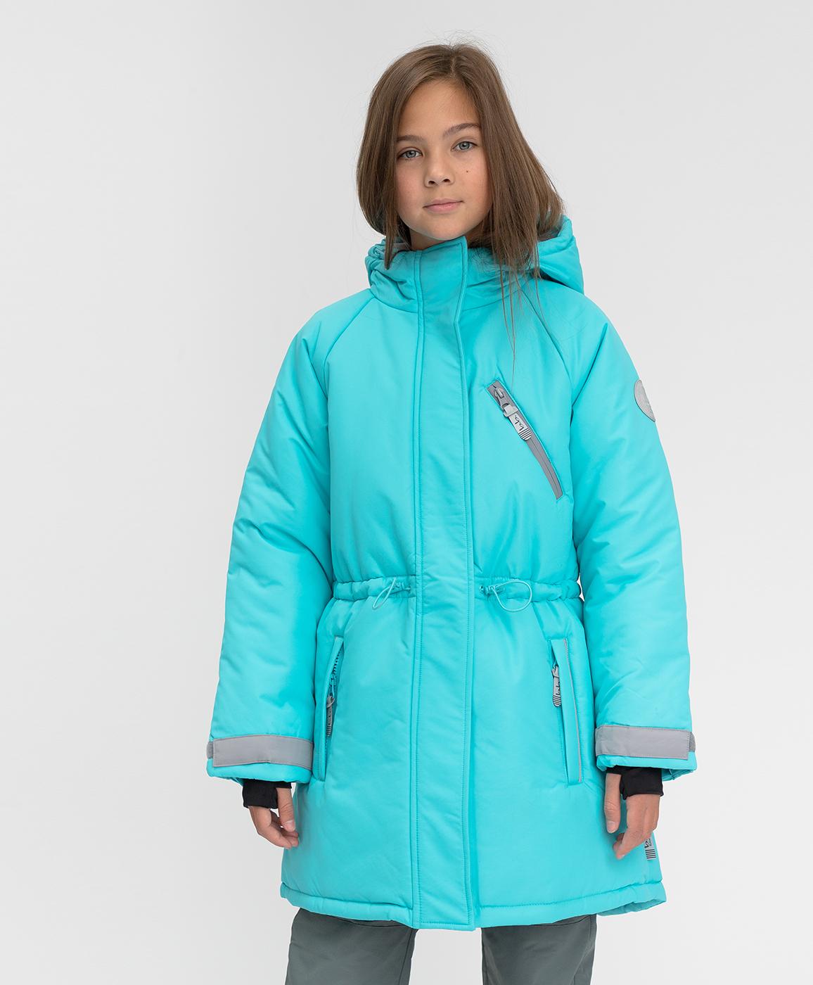 Купить 220BBGA45021800, Зимнее пальто Active Button Blue, голубой, 140, Мембрана, Женский, Зима, ОСЕНЬ/ЗИМА 2020-2021 (shop: GulliverMarket Gulliver Market)