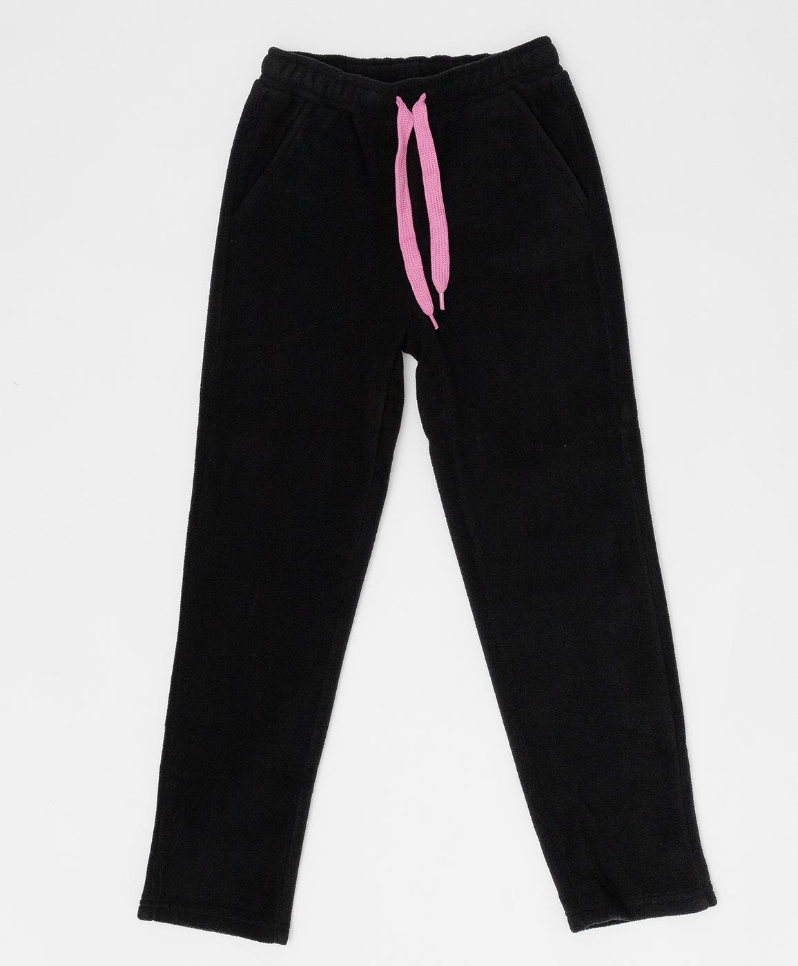 Купить 220BBGA56010800, Черные флисовые брюки Button Blue, черный, 116, Флис, Женский, Зима, ОСЕНЬ/ЗИМА 2020-2021 (shop: GulliverMarket Gulliver Market)