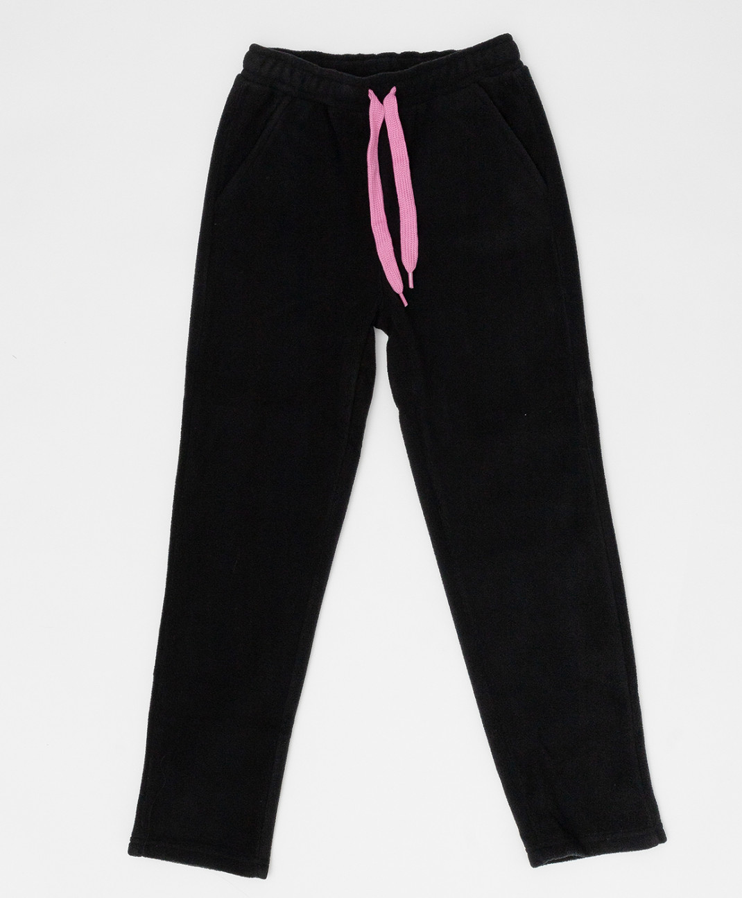 Button Blue Черные флисовые брюки Button Blue