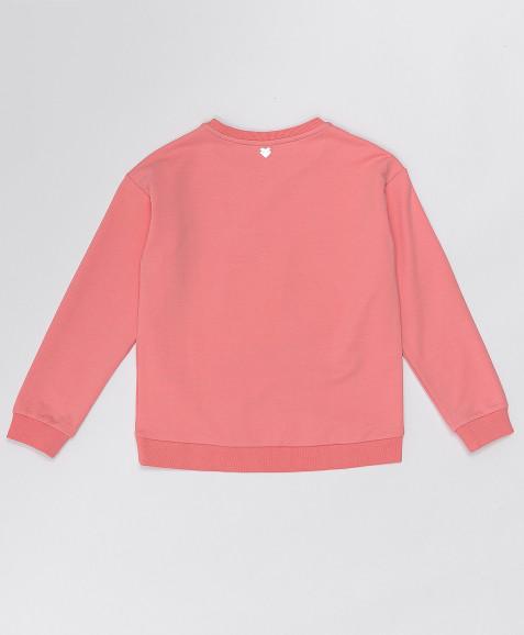 Розовая толстовка из футера Button Blue