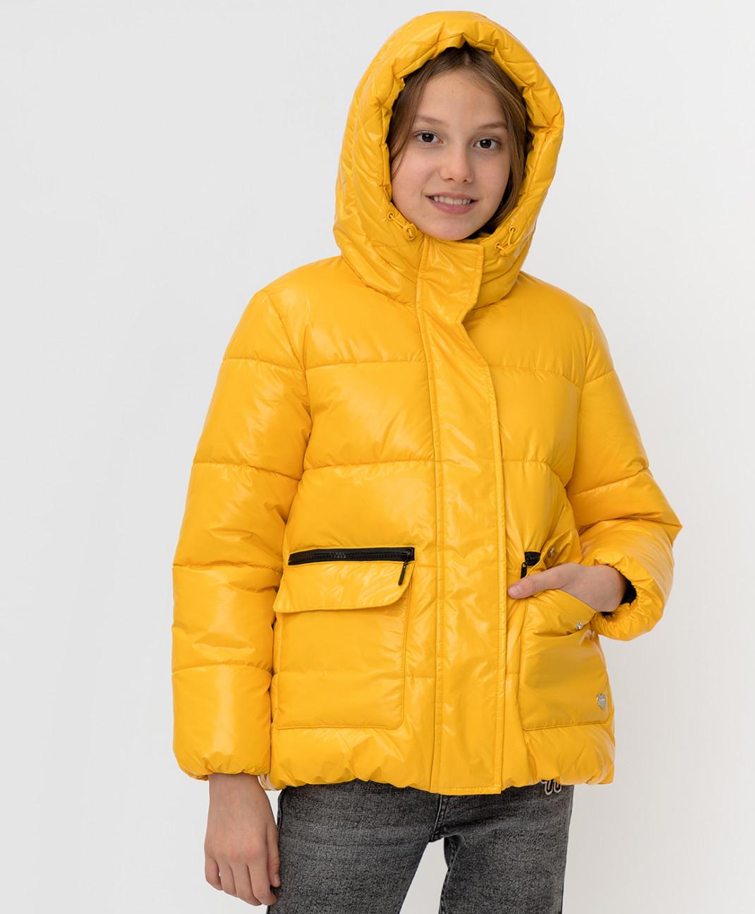 Button Blue Желтая зимняя куртка Button Blue
