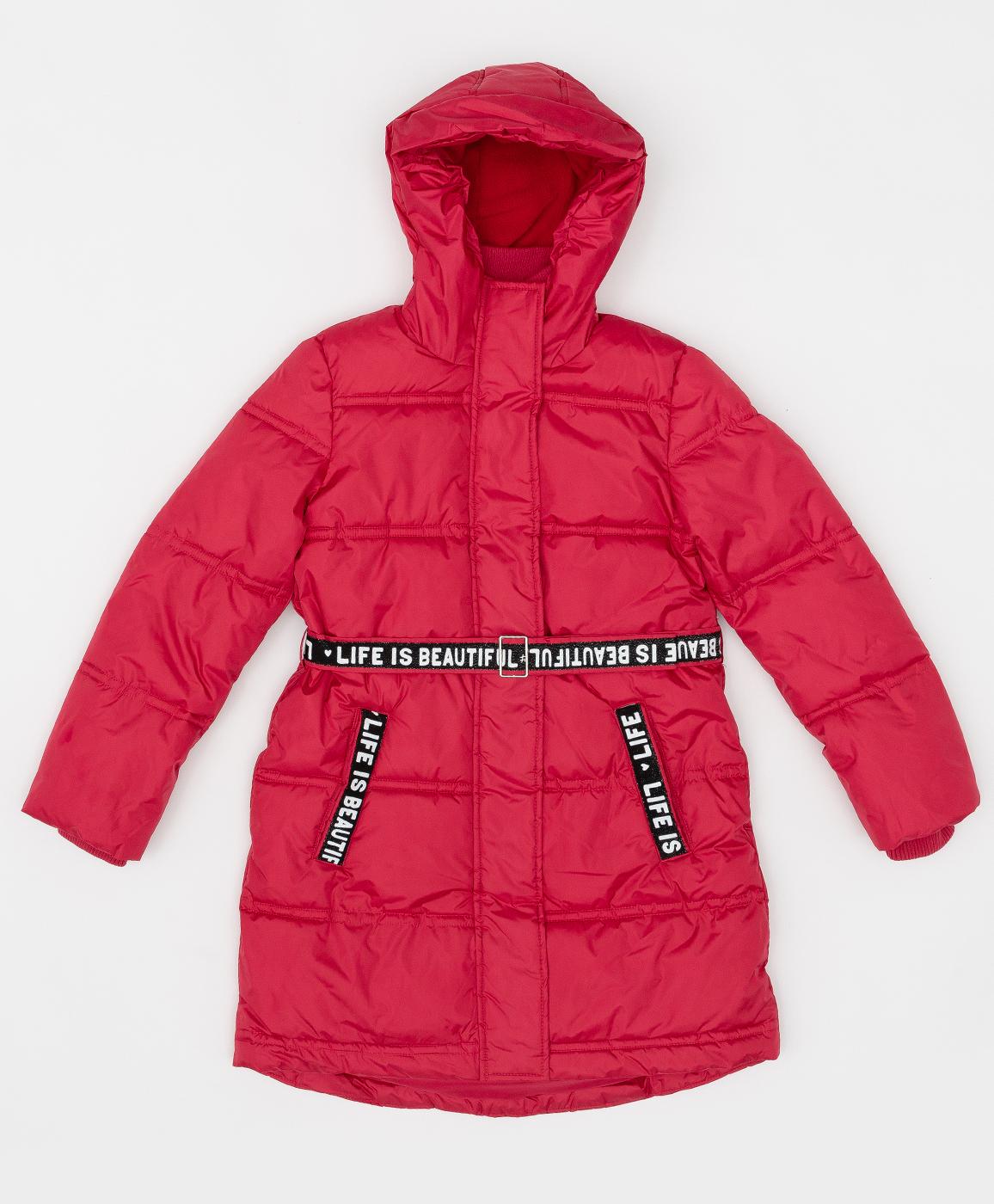 Купить 220BBGJC45023500, Розовое зимнее пальто с поясом Button Blue, розовый, 146, Полиэстер, Женский, Зима, ОСЕНЬ/ЗИМА 2020-2021 (shop: GulliverMarket Gulliver Market)