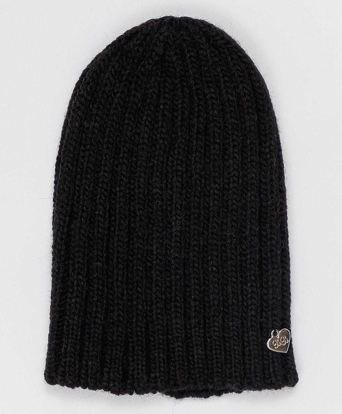 Купить 220BBGJX73010800, Черная вязаная шапка Button Blue, черный, 56, Вязаный трикотаж, Женский, Зима, ОСЕНЬ/ЗИМА 2020-2021 (shop: GulliverMarket Gulliver Market)