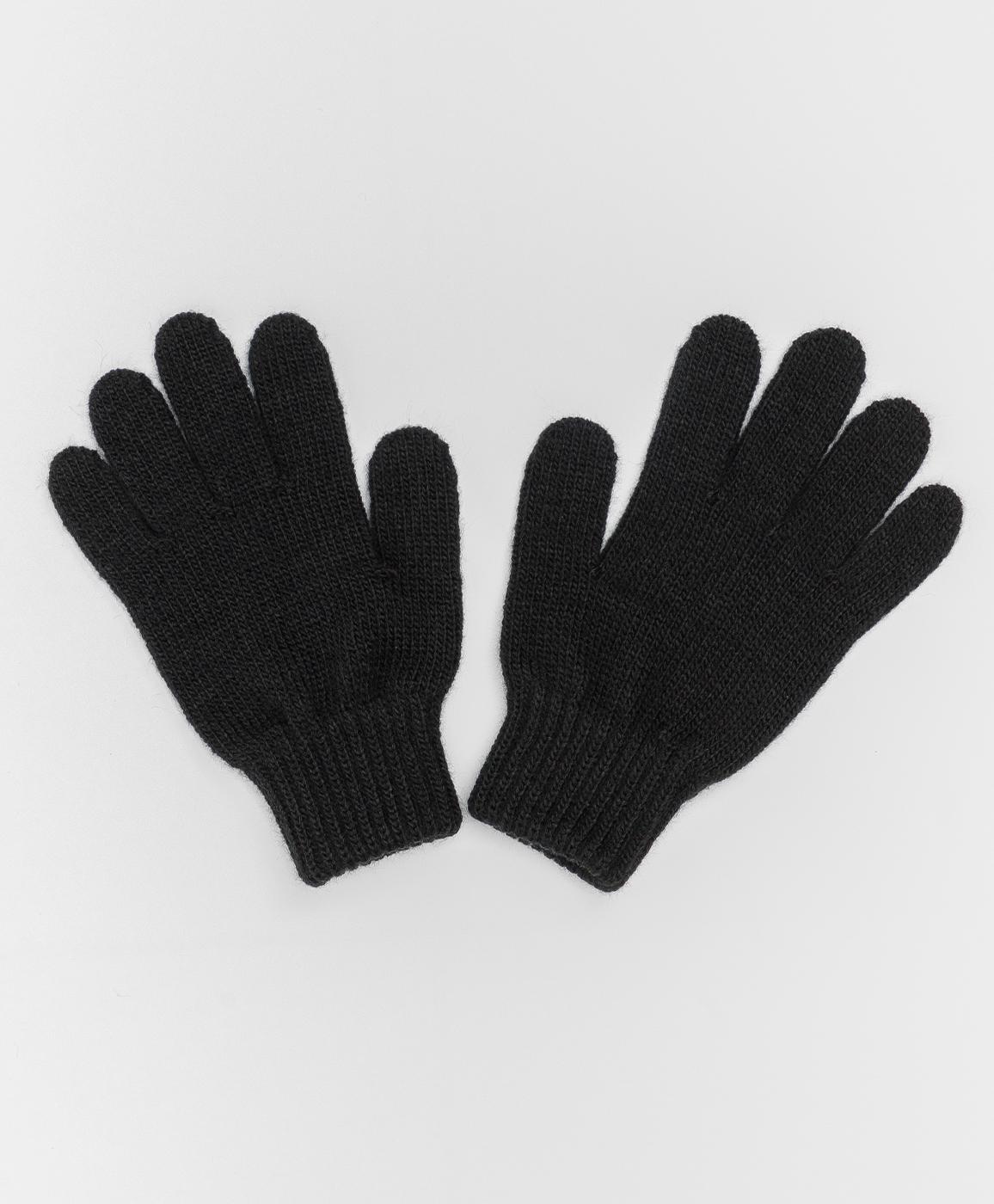 Купить 220BBGJX76010800, Черные вязаные перчатки Button Blue, 18, Женский, Зима, ОСЕНЬ/ЗИМА 2020-2021 (shop: GulliverMarket Gulliver Market)