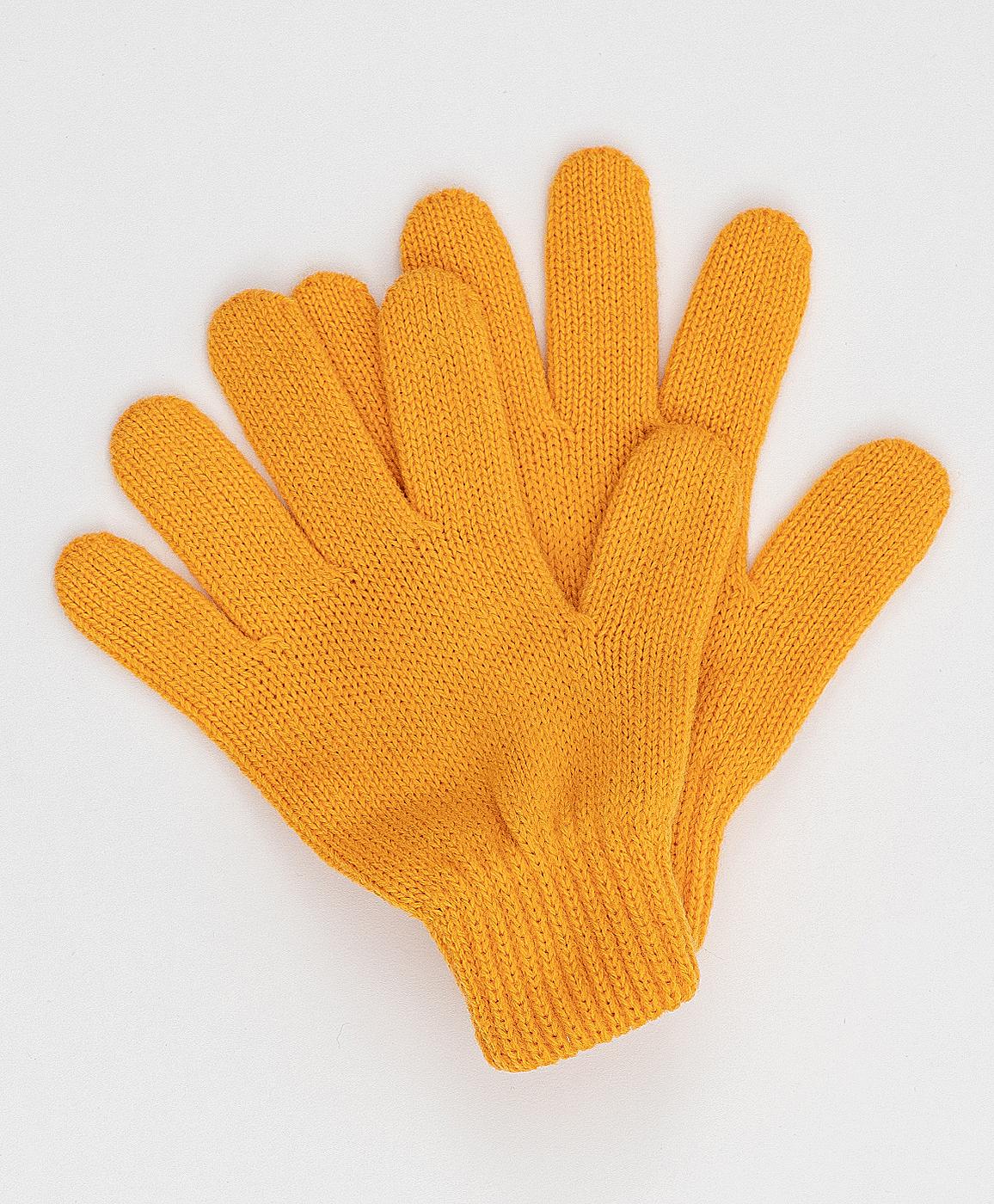 Купить 220BBGJX76012700, Желтые вязаные перчатки Button Blue, 18, Женский, Зима, ОСЕНЬ/ЗИМА 2020-2021 (shop: GulliverMarket Gulliver Market)