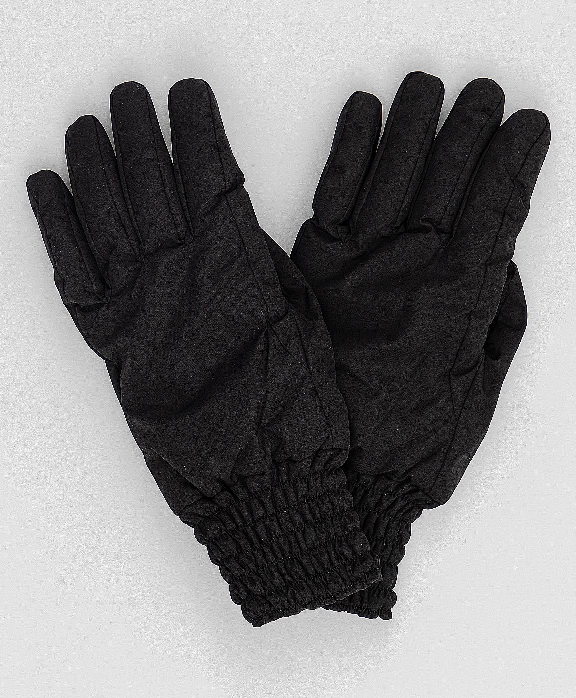 Черные перчатки Button Blue