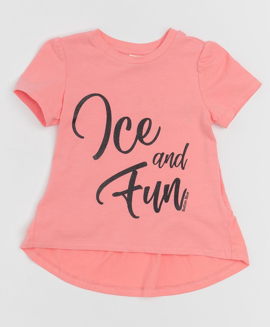 Button Blue Розовая футболка с глиттером Button Blue