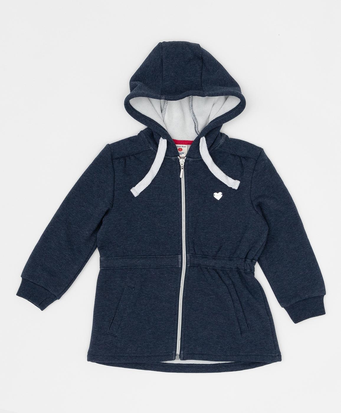 Купить 220BBGMC16041000, Синяя толстовка с принтом Button Blue, синий, 98, Бондированное трикотажное полотно, Женский, Зима, ОСЕНЬ/ЗИМА 2020-2021 (shop: GulliverMarket Gulliver Market)