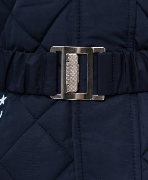 Темно-синяя демисезонная куртка Button Blue