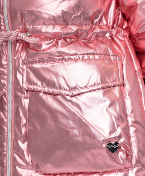 Розовое демисезонное пальто Button Blue