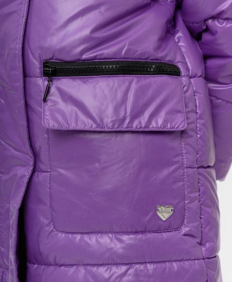 Сиреневое зимнее пальто Button Blue