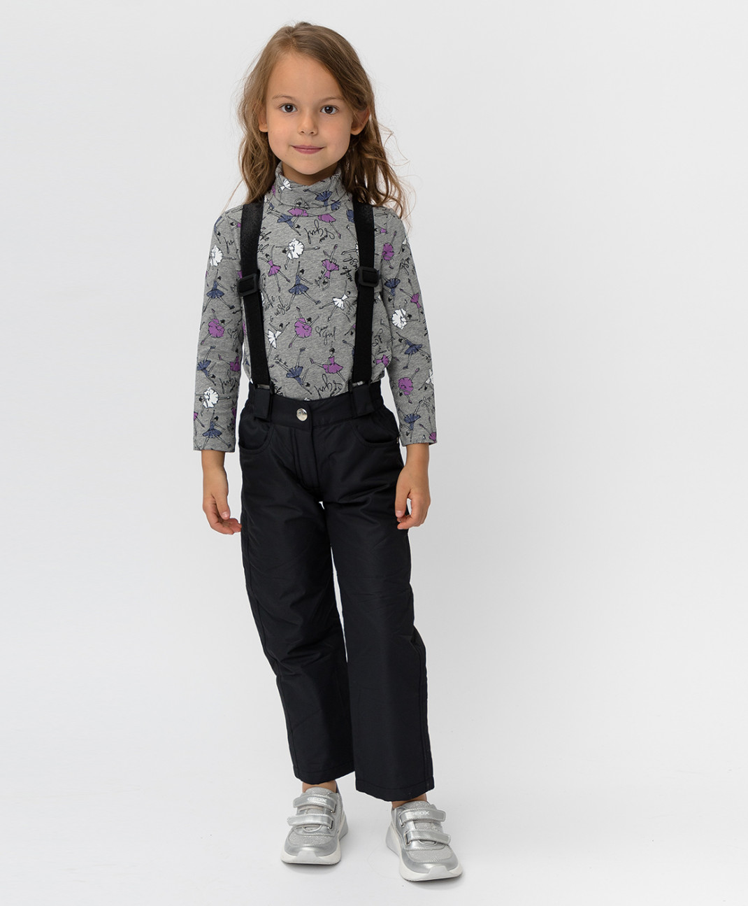 Button Blue Утепленные черные брюки Button Blue