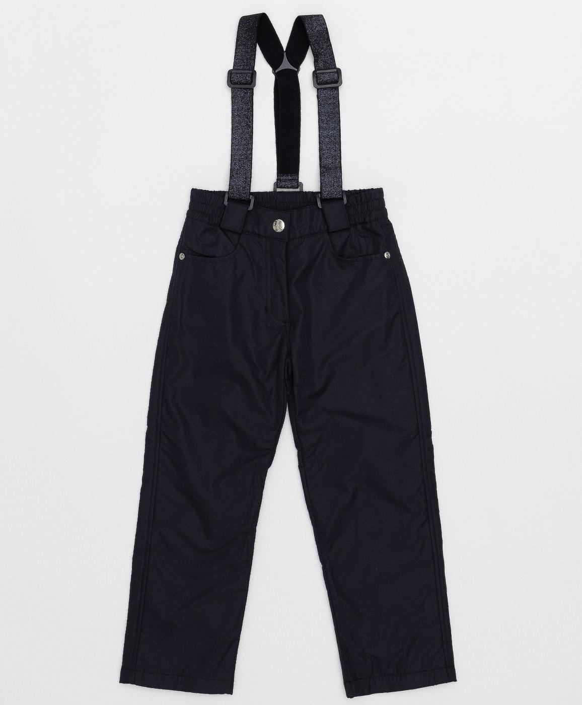 Купить 220BBGMC64021000, Утепленные синие брюки Button Blue, синий, 122, Полиэстер, Женский, Демисезон, ОСЕНЬ/ЗИМА 2020-2021 (shop: GulliverMarket Gulliver Market)