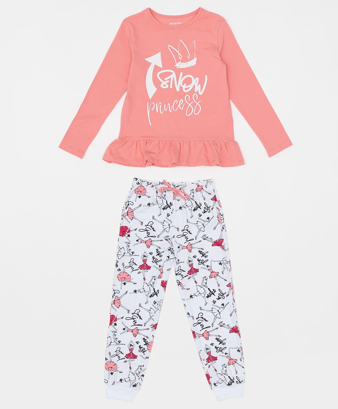 Купить 220BBGMU97011213, Пижама для девочки Button Blue, розовый, 116-122, Хлопок, Женский, ОСЕНЬ/ЗИМА 2020-2021 (shop: GulliverMarket Gulliver Market)