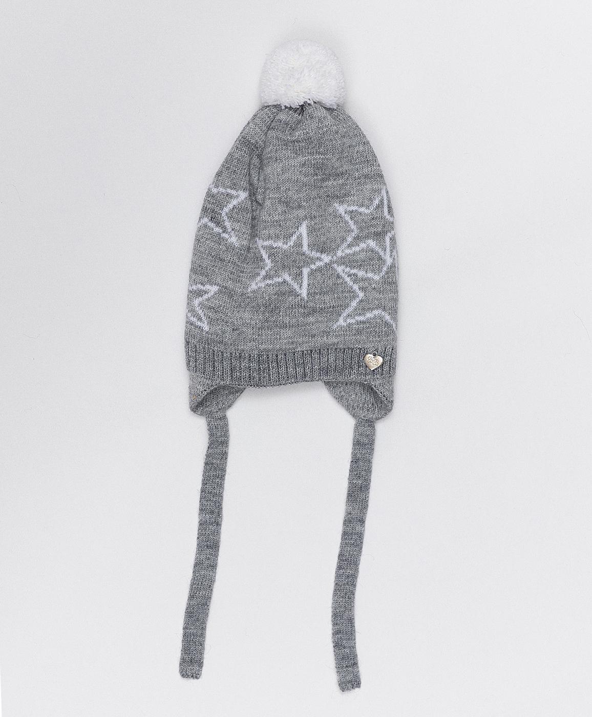 Купить 220BBGMX73021901, Серая шапка с завязками Button Blue, серый, 50, Вязаный трикотаж, Женский, Зима, ОСЕНЬ/ЗИМА 2020-2021 (shop: GulliverMarket Gulliver Market)