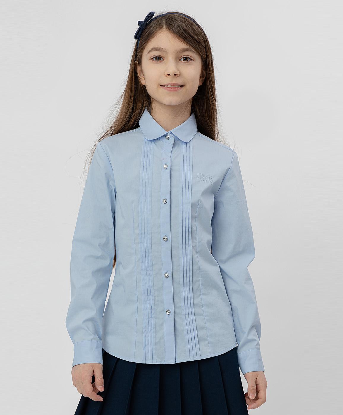 Купить 220BBGS22041800, Голубая рубашка Button Blue, голубой, 170, Хлопок, Женский, Демисезон, ШКОЛЬНАЯ ФОРМА 2020-2021 (shop: GulliverMarket Gulliver Market)