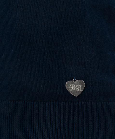 Синий трикотажный жилет Button Blue