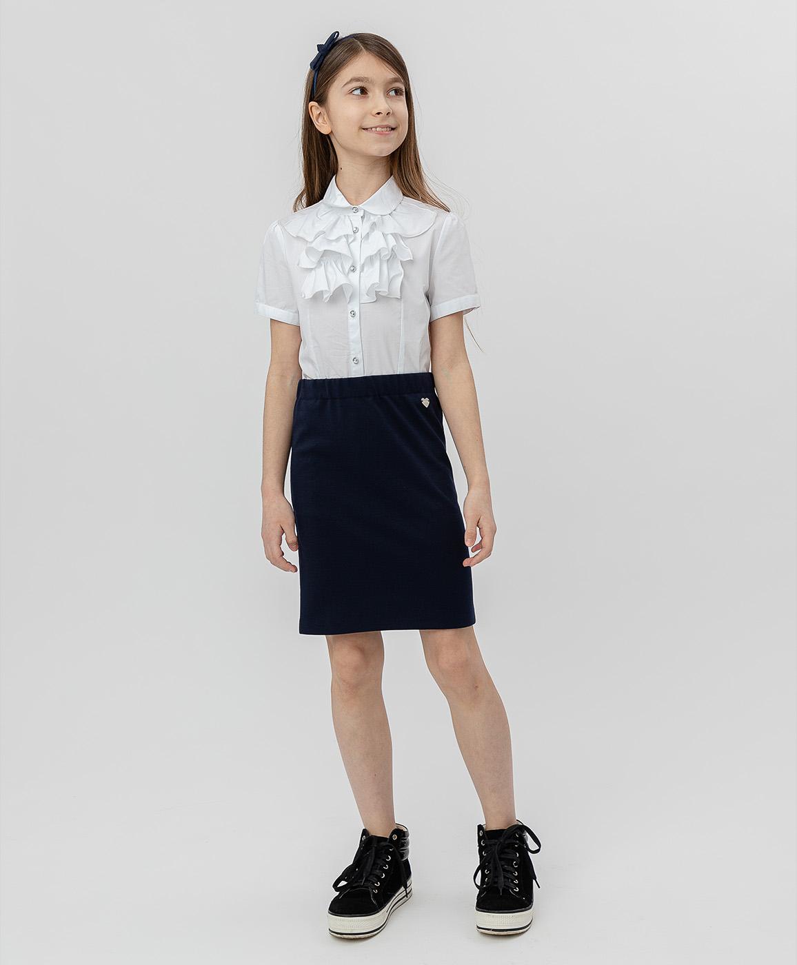 Купить 220BBGS55011000, Синяя юбка Button Blue, синий, 152, Джерси, Женский, Демисезон, ШКОЛЬНАЯ ФОРМА 2020-2021 (shop: GulliverMarket Gulliver Market)