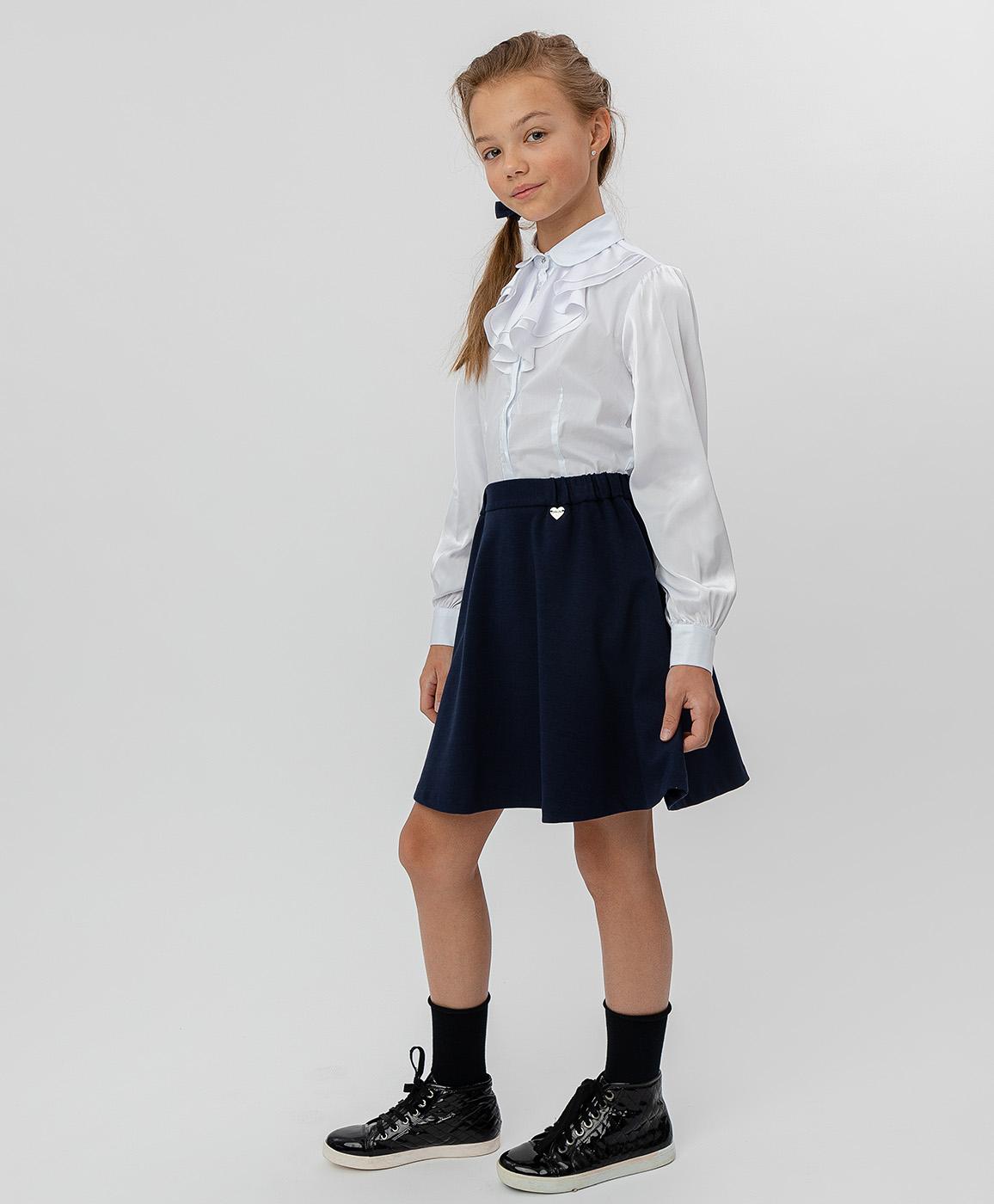Купить 220BBGS55021000, Синяя юбка на резинке Button Blue, синий, 152, Джерси, Женский, Демисезон, ШКОЛЬНАЯ ФОРМА 2020-2021 (shop: GulliverMarket Gulliver Market)