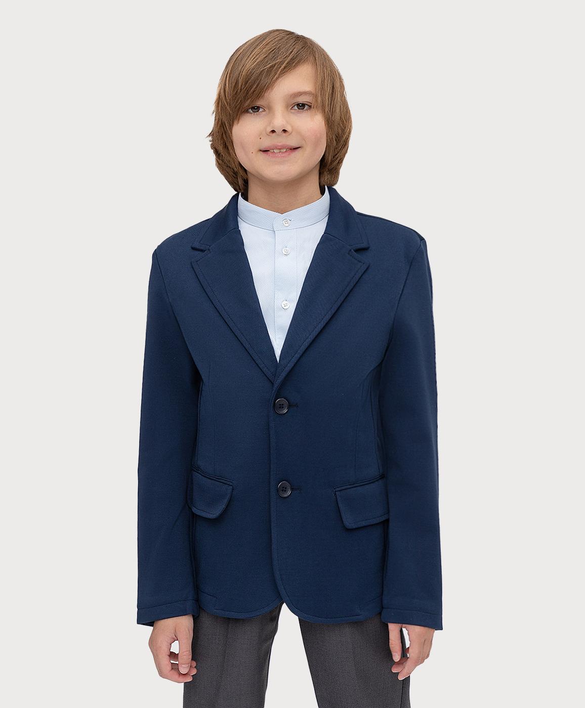 Купить 221BBBS19011000, Пиджак синий Button Blue, 134, Вискоза, Мужской, ШКОЛЬНАЯ ФОРМА 2021-2022 (shop: GulliverMarket Gulliver Market)