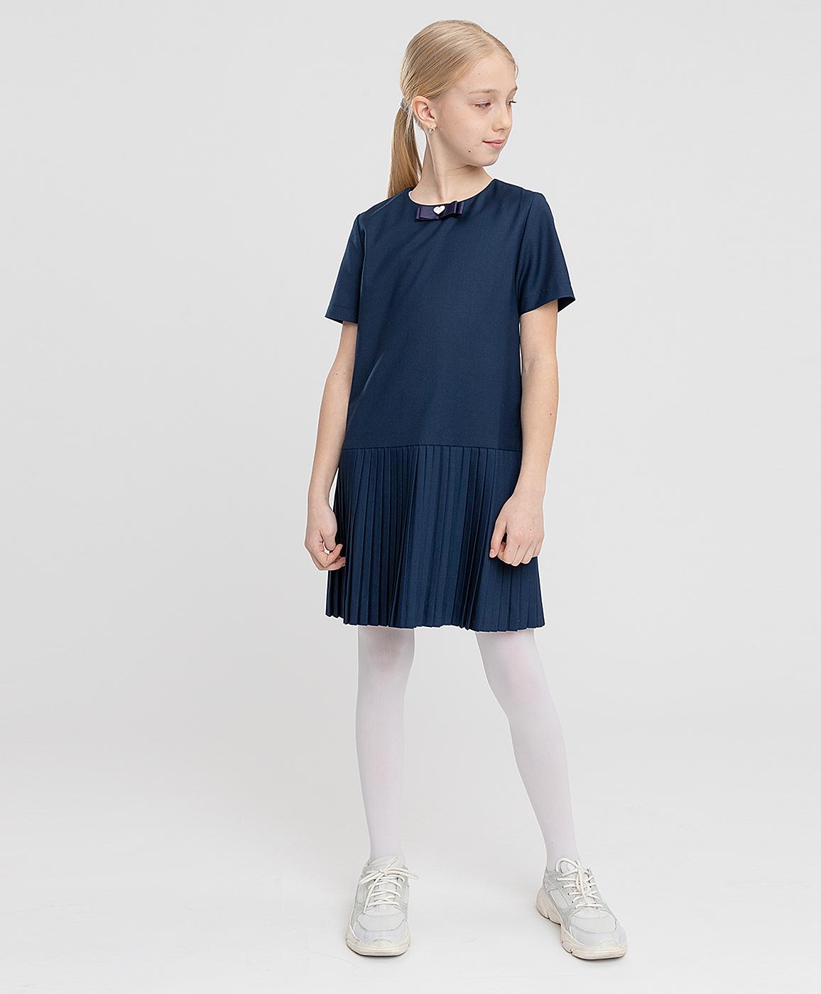 Купить 221BBGS25021000, Платье синее Button Blue, 164, Полиэстер, Женский, ШКОЛЬНАЯ ФОРМА 2021-2022 (shop: GulliverMarket Gulliver Market)